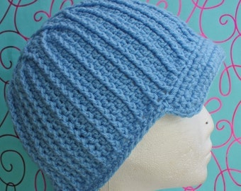 PATTERN - Starburst Ribs Brimmed Beanie- Free International Shipping