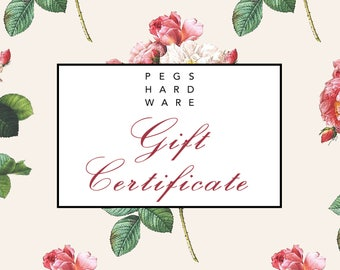 25.00 Gift Certificate - {Mailed}