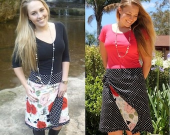 Reversible Wrap Skirt Pattern - 2 skirts in 1