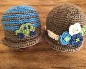 His and Hers Hats Bowler or Cloche Hats