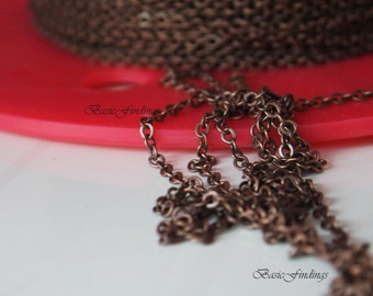 10 Meters,Antique Copper Finished Brass Chain,  Cable Chain 235SF, Basic Fashion Jewelry Chain, Quality Chain,