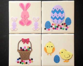 Easter Tile Coasters