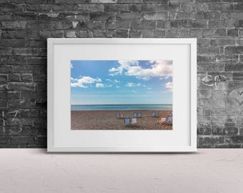 "Photography, ""Empty"" Print Wall Art Decor Gift Apartment Art Travel Brighton Beach"