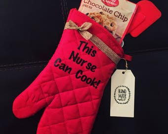Nurse Thank you gift | Cooking |Custom made Cookies | Coworker Gift | Foodie Christmas Gift | Oven Mitt |Baking | Nurse Appreciation
