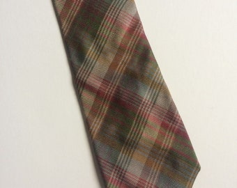 Vintage Clothing Retro Mens Mulberry Made in Italy Silk Tie