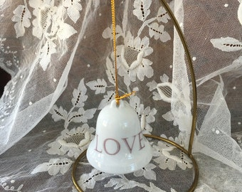 """Charming Bell with Clapper Bell Ornament - """"LOVE"""""""