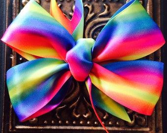 Satin Rainbow Hair Bow