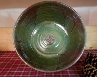 Spring green pottery bowl