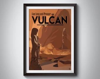 Star Trek Travel Poster | Vulcan | Instant Download