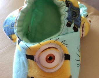 Minions inspired Baby Booties