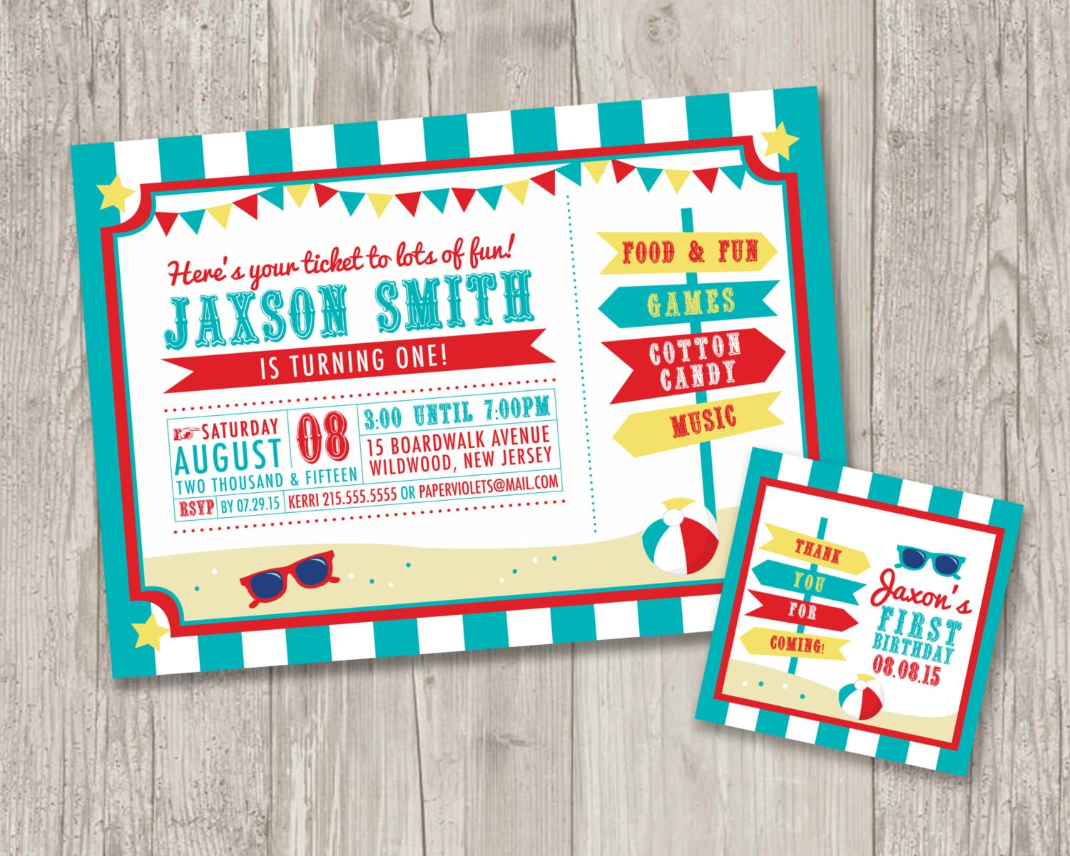 Carnival Themed Birthday Party Invitation wedding invitation email text