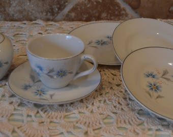 Child's Tea Set Dishes~Not Full Set~Just What Is Shown~Plates~Cup~Saucer~Sugar With Lid