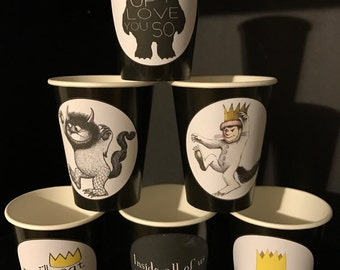 Where the Wild Things Are | Wild Beast | Wild One | Max Birthday Party Pack Cups 9 ounce Plates