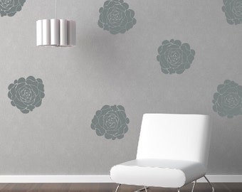 Peony Flower Bloom Wall Decals, Flower Wall Decals, Bloom Wall Decals, Nursery Wall Art, Childrens Wall Decals, Girl Bedroom Decor