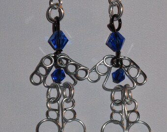 Wire Wrapped Little Birthstone People Earrings MADE to ORDER