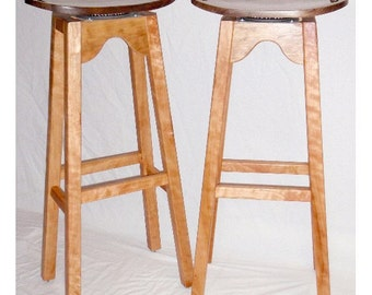 Curvy & Swervy in Cherry-n-Walnut Bar Stools