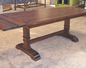 Table, Dining Table, Reclaimed Salvaged Solid Wood Dining Table, Vintage and Rustic