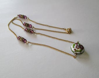 Vintage Cloissone and Swarovski Accents Necklace