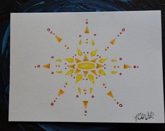 Sunburst Blank Note Cards (color)