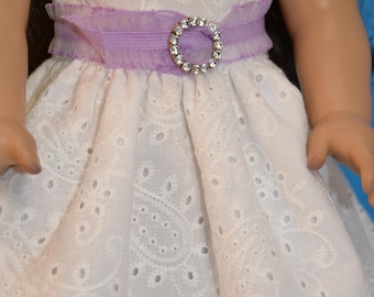 """White Cowgirl Dress for Your 18"""" Doll"""
