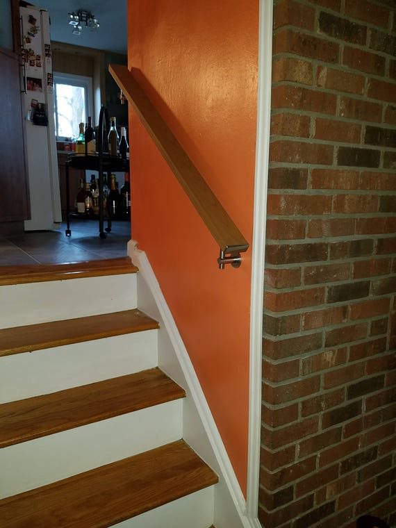Square Flat Wall Mount Modern Stair Hand Rail Staircase