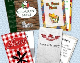 Restaurant Fun Pretend Play Pack Printable