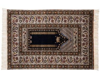 2x3 Kashan Design Hand Knotted Oriental Vintage Rug 034274