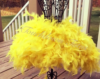 Canary yellow feather tutu customize your own
