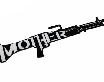 Animal Mother M60 Machine Gun - Full Metal Jacket - High Quality Decal