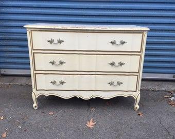 Vintage French 3 Drawer Dresser
