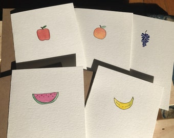 Hand Painted Fruit Notecards Set of 10