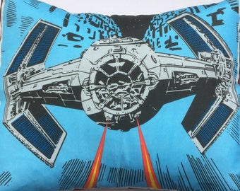 Alien Couture - Star Wars Tie Fighter Ship Handmade Fabric Cushion