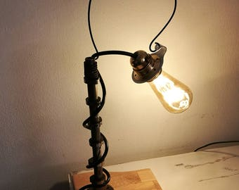 Cams-Table lamp, chamber, excellent light point, handmade, upcycled, recycling-unique piece