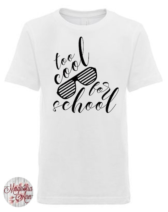 Too Cool For School Sunglasses, Little Boys Graphic T-Shirt in Sizes XS-XL in Black, White & Grey,  Kids Graphic Tees