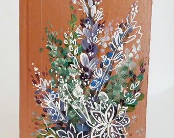 Copper Floral Fusion Hand Painted Notebook