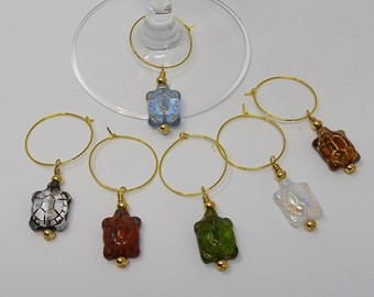 Wine Glass Charms:  The Terrapene Collection