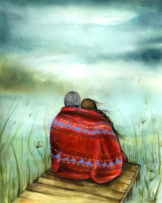 The red blanket art print