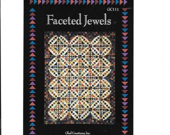 """Faceted Jewel Glad Creations Susaan Dyer & Nancy Raschka Reeves,  Size 80"""" 104"""", Quilting, Quilt Design, Patchwork, Sewing, Quilt Block"""