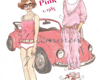 Caroline Prefers Pink, a Paper Doll, 1980's