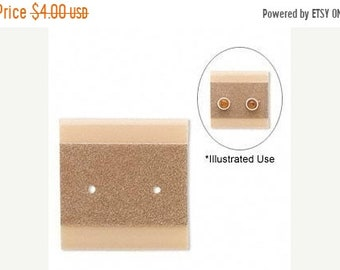 TAX SEASON Stock up 50 Pack Taupe Color Velour Blank 1x1 Inch Hanging Plastic Ear Cards