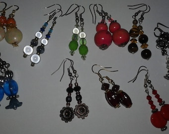 10 pairs of earrings fantasy