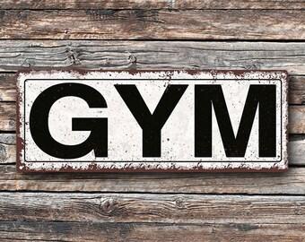 Gym Metal Street Sign, Rustic, Vintage    TFD2069
