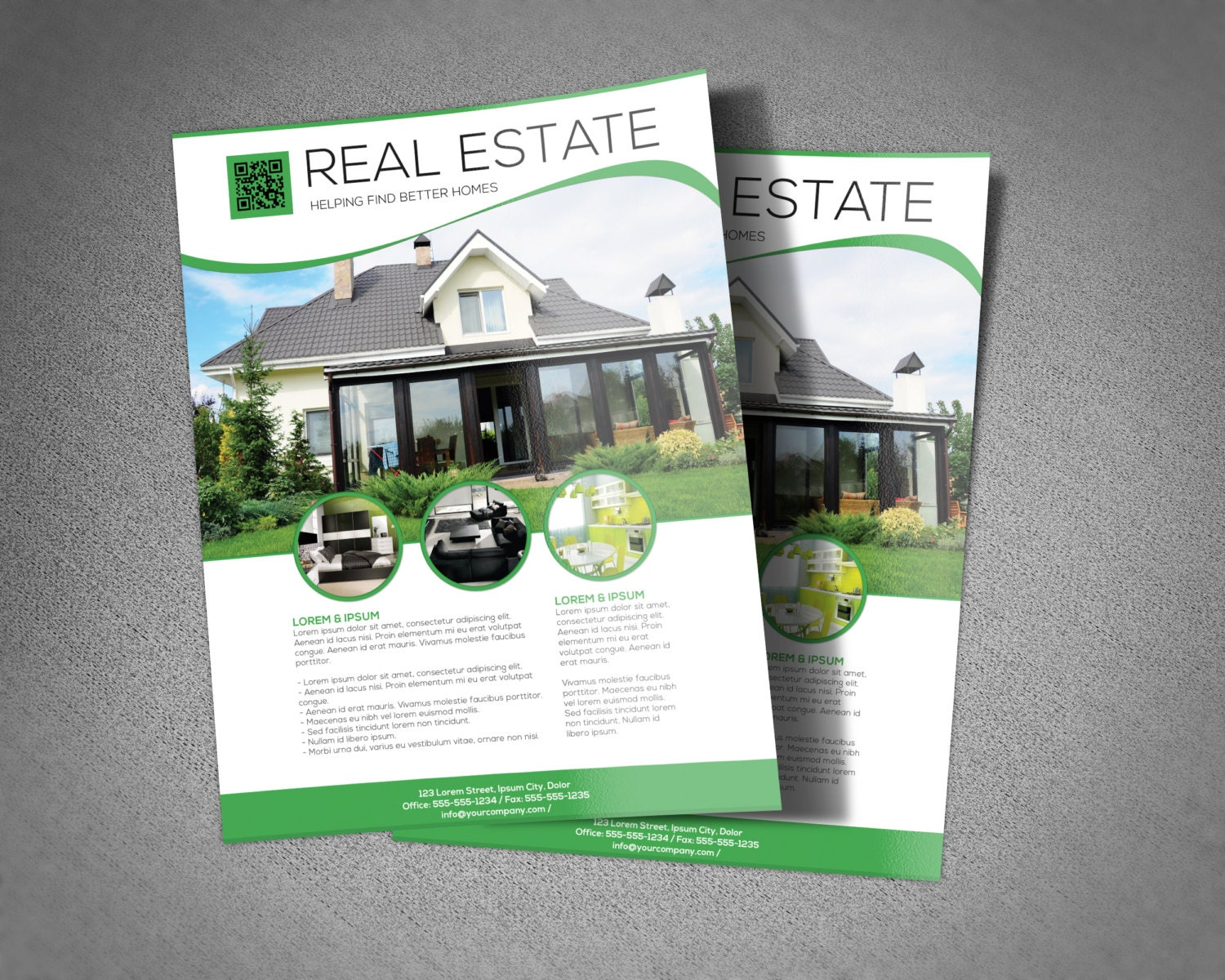 Real Estate Flyer Template Option To Add Photo Change Text