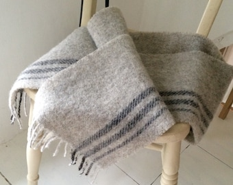 Handmade, natural, limited edition Shetland wool scarf
