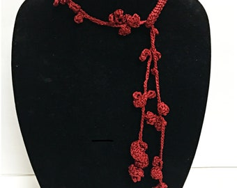 Crocheted Necklace/Lariat