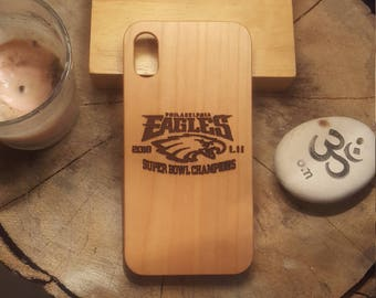 NFL Football Teams Wood Carved Phone Case Engraved Cover iPhone X 7 7 Plus 8 8 Plus Samsung Galaxy S8 Gift