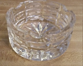 Vintage Waterford Crystal Ashtray 1980s