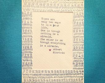 Albert Einstein Quote Typewriter Art
