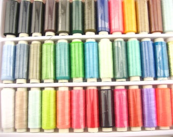 39 Spools Hand Machine Sewing Thread 39 Mixed Colors with gold silver thread