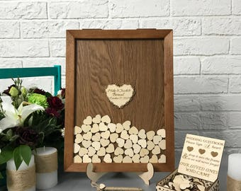 Wedding Guest Book, Alternative Drop Box, Wedding Box Wishes, Guest Book, Guestbook Hearts, Drop Top Box, Guestbook Idea, Guestbook